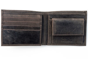 Logan Leather Wallet - Taupe