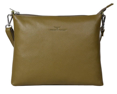 Emma Leather Sling Bag in Rambler Military Green