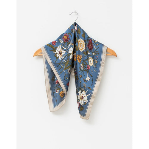 Blue Tulleries Square Scarf