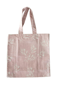 Cotton Eco Shopper Tote Bag- Mushroom Pink