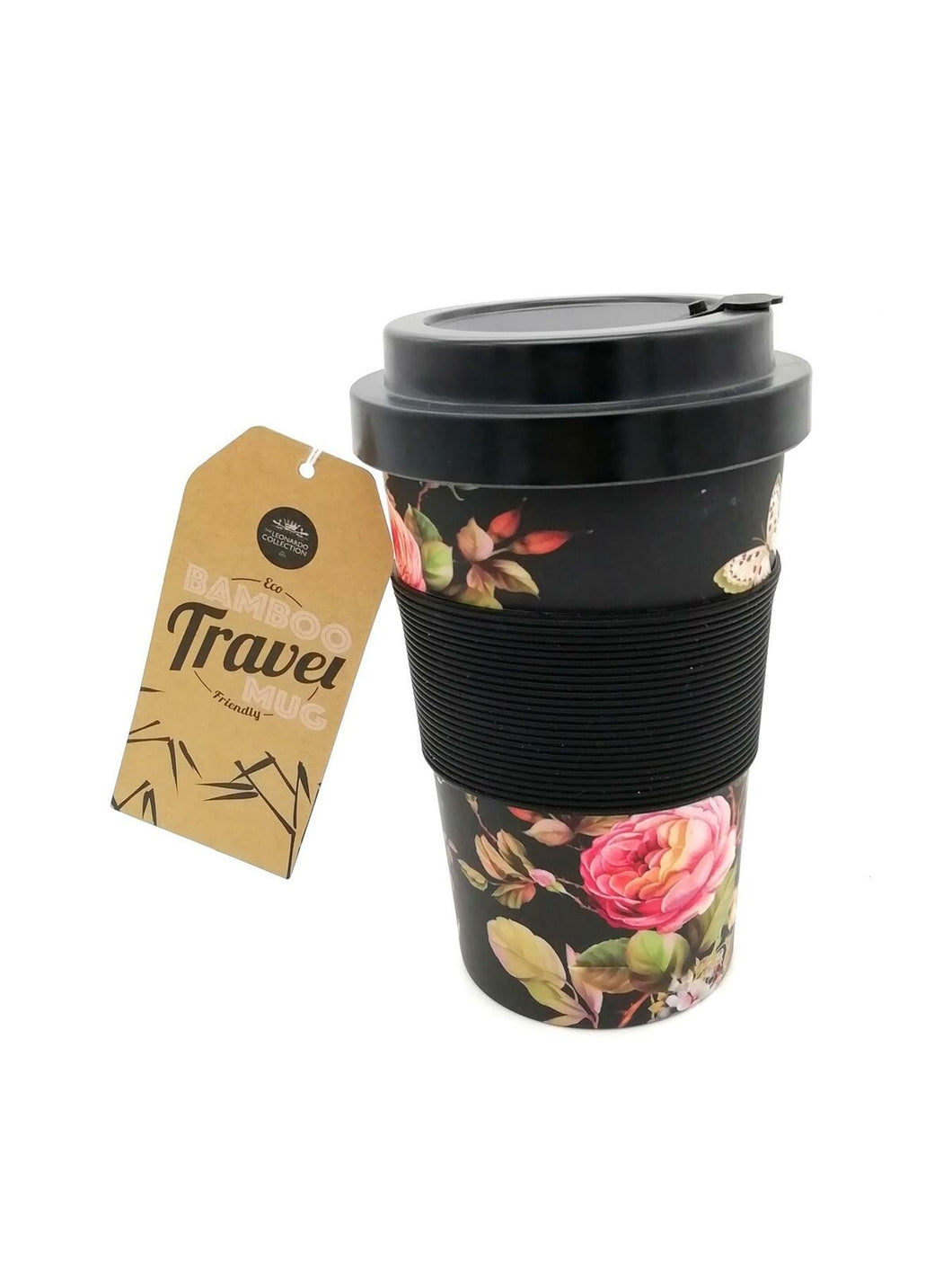 Bamboo Travel Mug Butterfly Floral