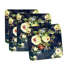 Load image into Gallery viewer, Set of 4 Rose Blossom Coasters