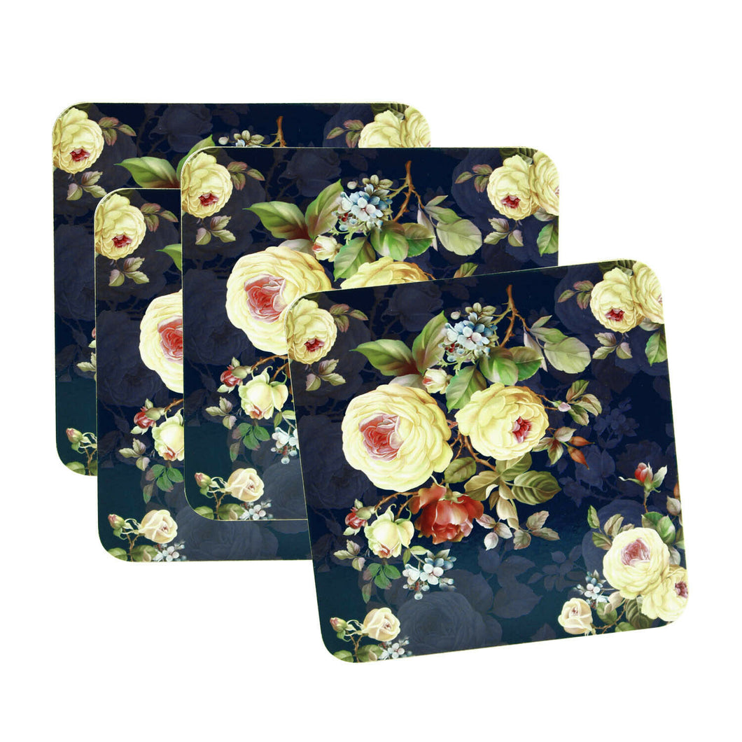 Set of 4 Rose Blossom Coasters