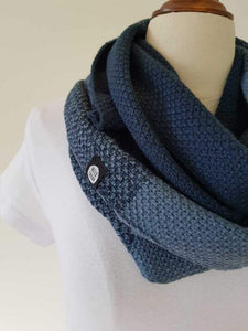 The Mixer Peacock / Denim Infinity Scarf