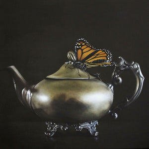 'Teapot And Monarch' By Jane Crisp Box Framed Print