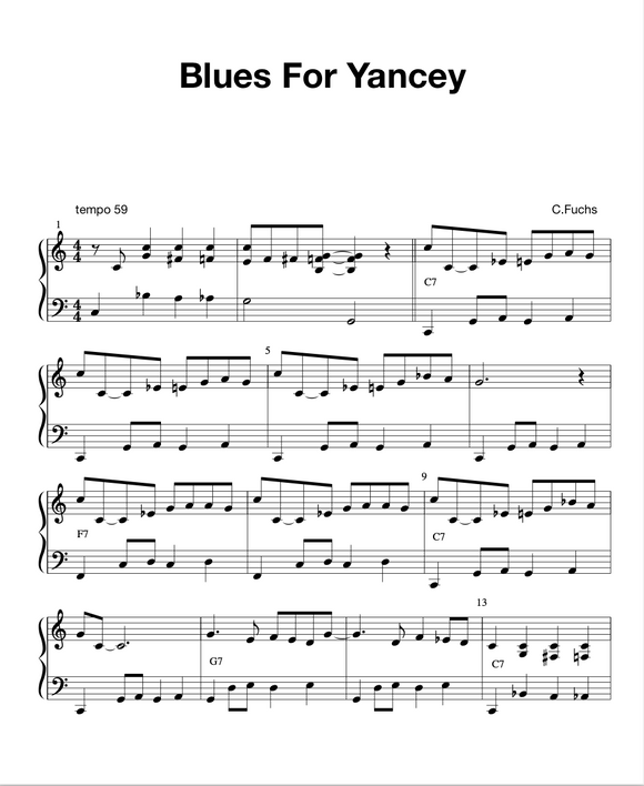 Blues For Yancey