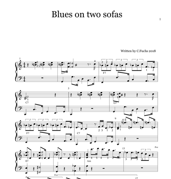 Blues on two sofas