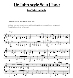 Dr. Johns style 12 chorus New Orleans blues improvisation