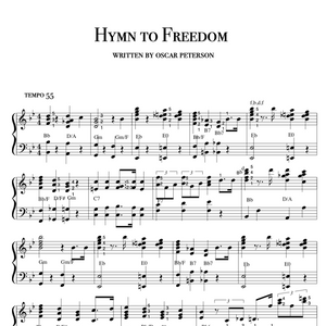 Hymn to Freedom, slow blues gospel