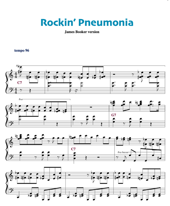 Rockin Pneumonia and the Boogie Woogie flu