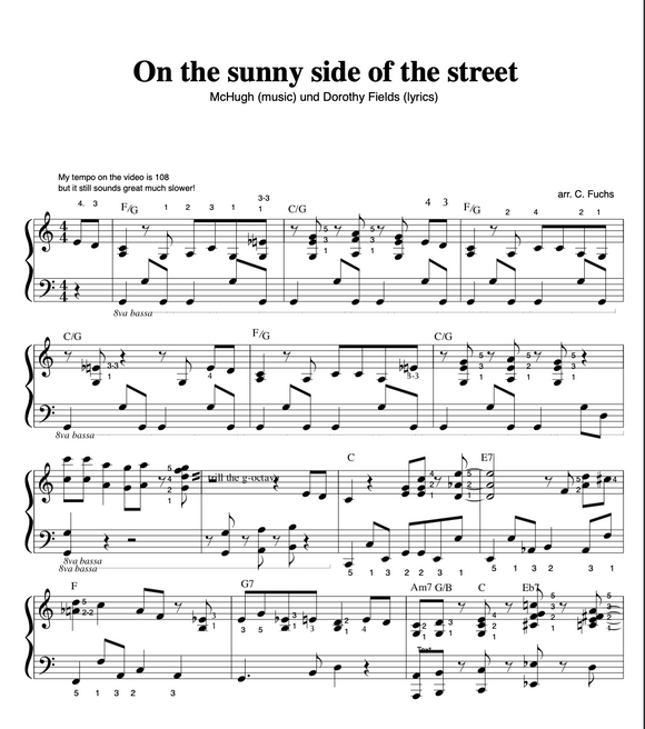 On the sunny side of the street ( groove version)