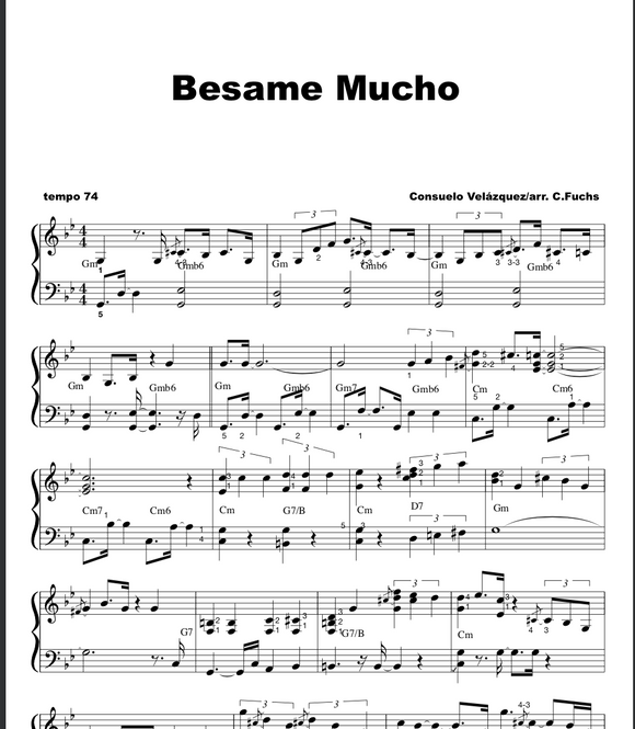 Besame Mucho ( with a blues touch)