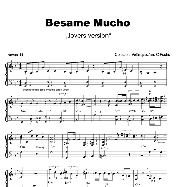 Besame Mucho LOVERS VERSION ( non-blues)