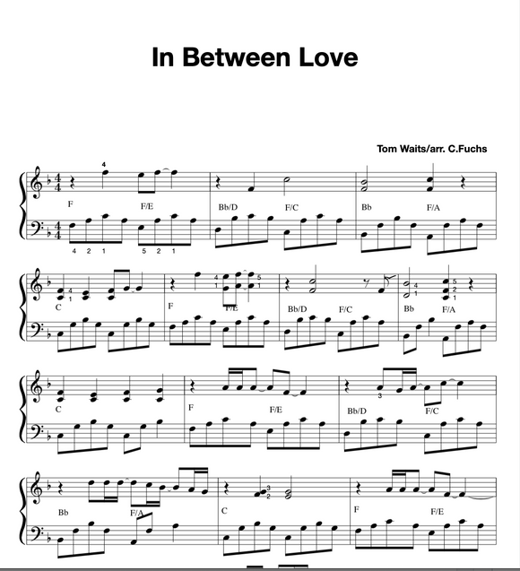 In Between Love  (Tom Waits)