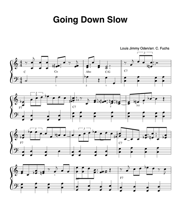 Going Down Slow, slow blues