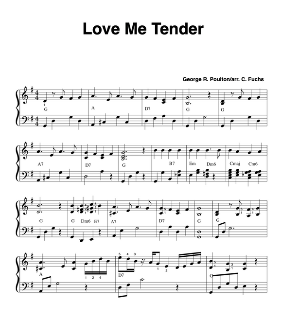 Love Me Tender ( with a blues touch)