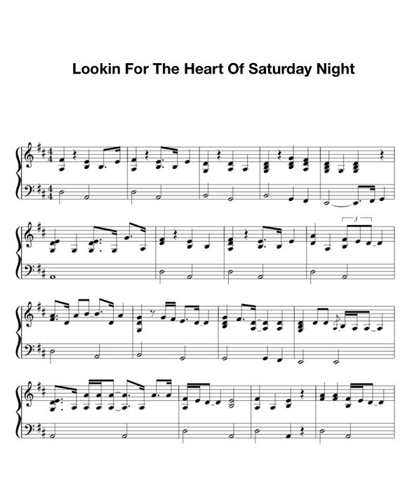 Looking for the Heart of Saturday Night