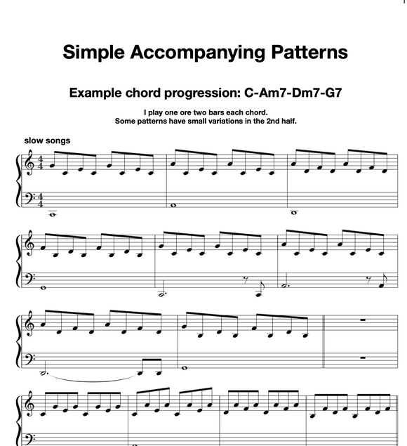 Easy Piano Accompaniment Patterns (Offer)