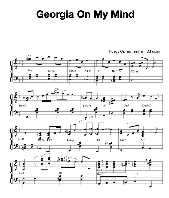 Georgia On My Mind, ADVANCED