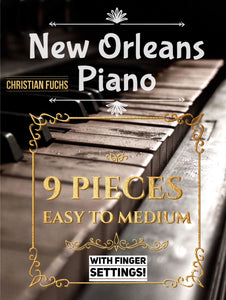 New Orleans Blues Piano Pack, 11 songs sheet music plus audio & more