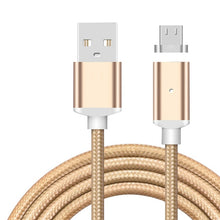 Load image into Gallery viewer, 1M Nylon Magnetic Cable 2.4A Micro USB Charging Data Cable Magnet Charger Adapter for Samsung Xiaomi Huawei Android Cell Phones