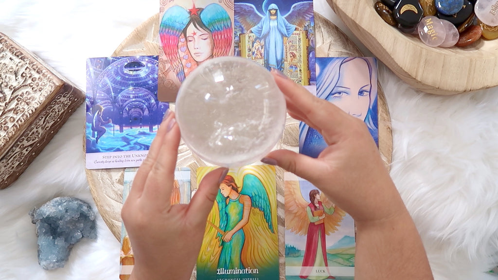 Angel Cards + Crystal Reading - 30 mins Recorded Video - Up to Three Questions
