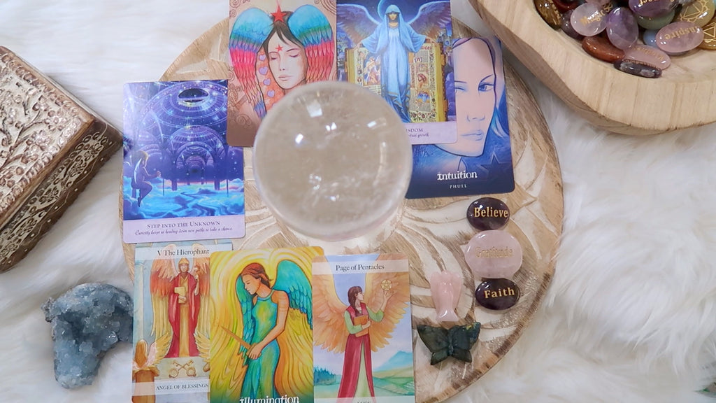 Angel Cards + Crystal Reading - 30 mins Video - Two Questions