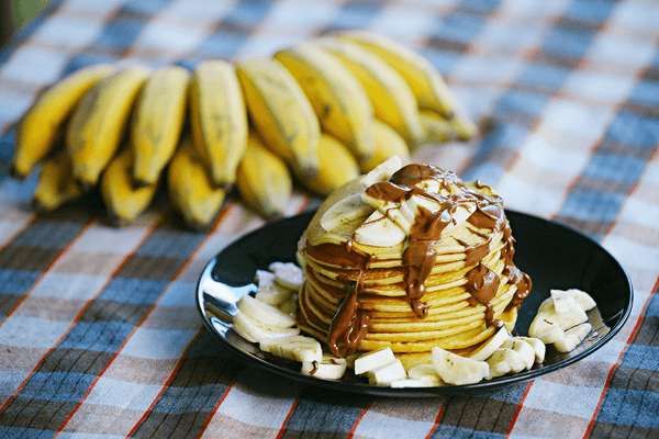 Banana Chocolate Drop Pancakes