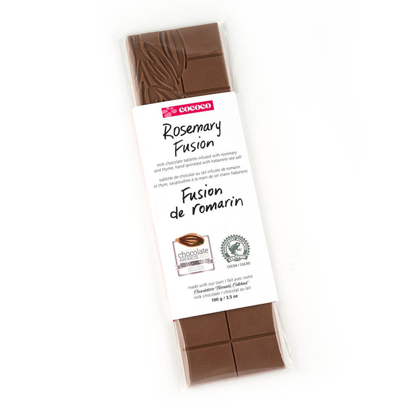 One bar of Rosemary Milk Chocolate Fusion