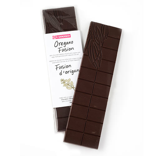 Two Dark Chocolate Oregano Fusion bars