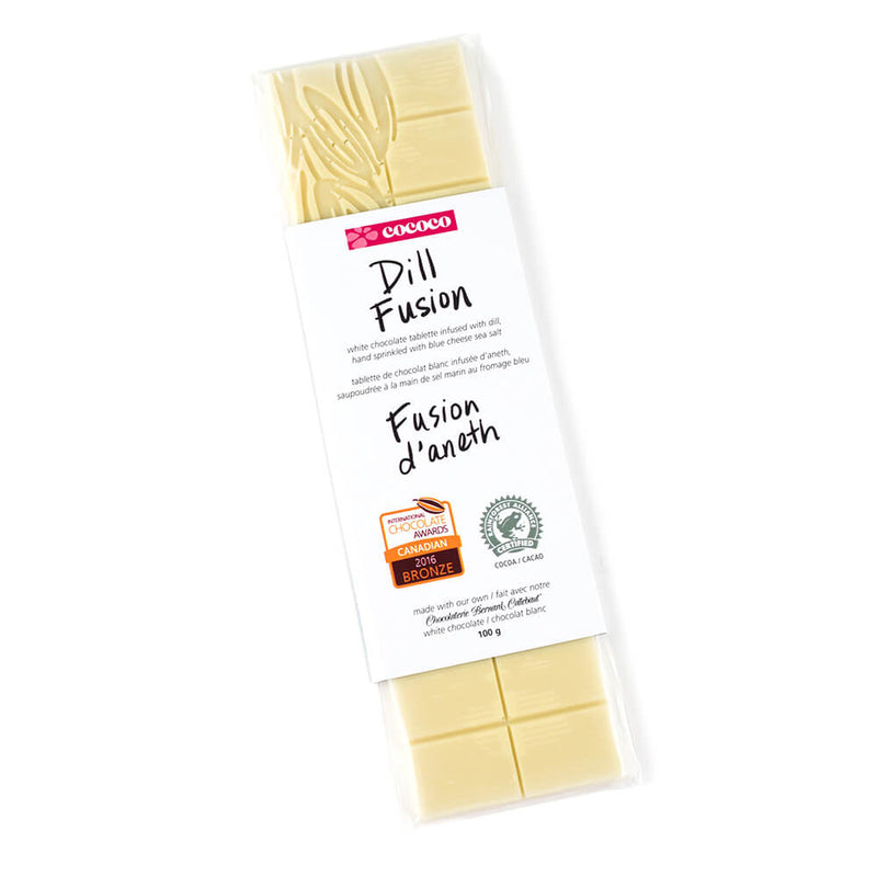 One bar of Dill Fusion White Chocolate