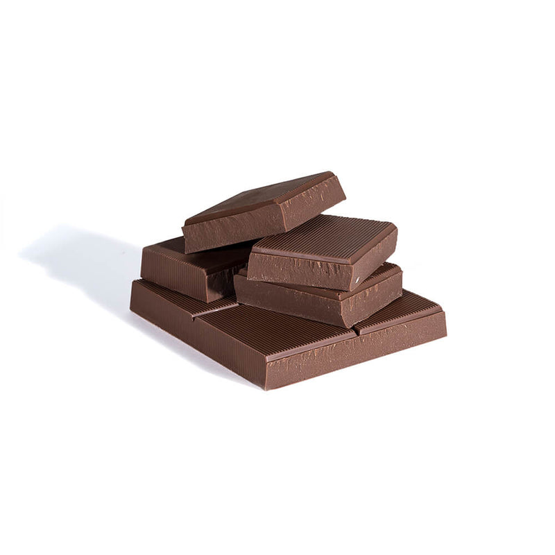Stack of milk chocolate chunks