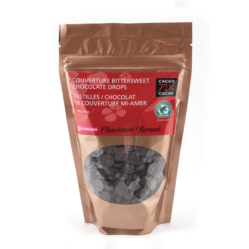 250g gusseted bag of chocolate chips