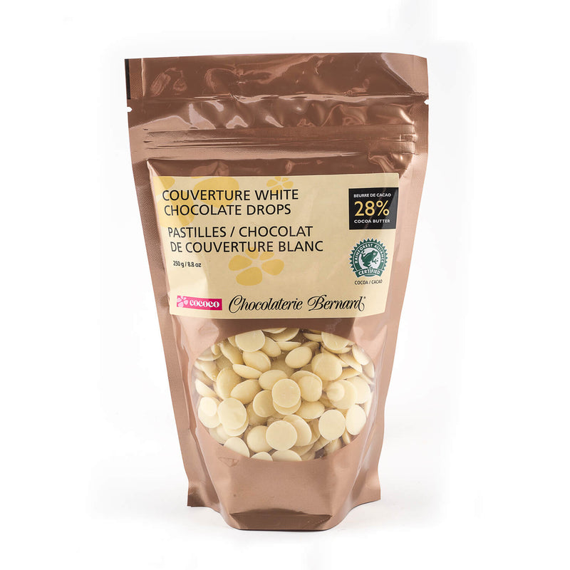 250g gusseted bag of white chocolate chips