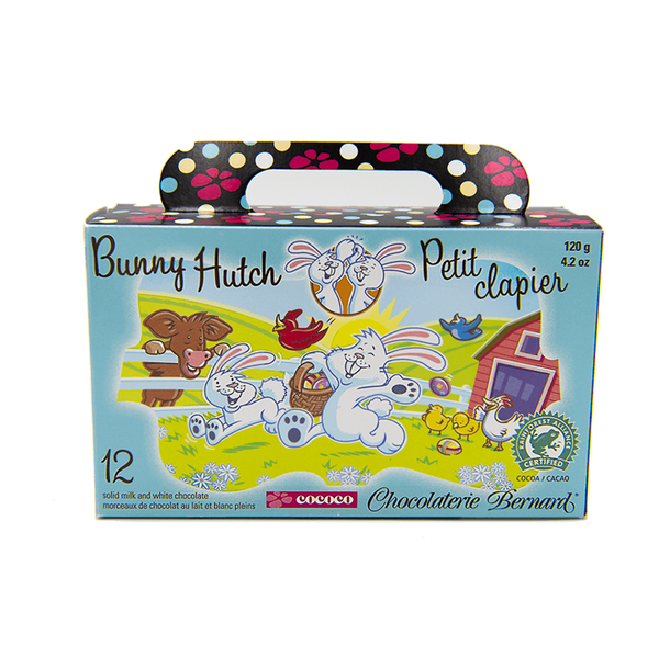 Bunny Hutch, milk and white chocolate, 12 pc