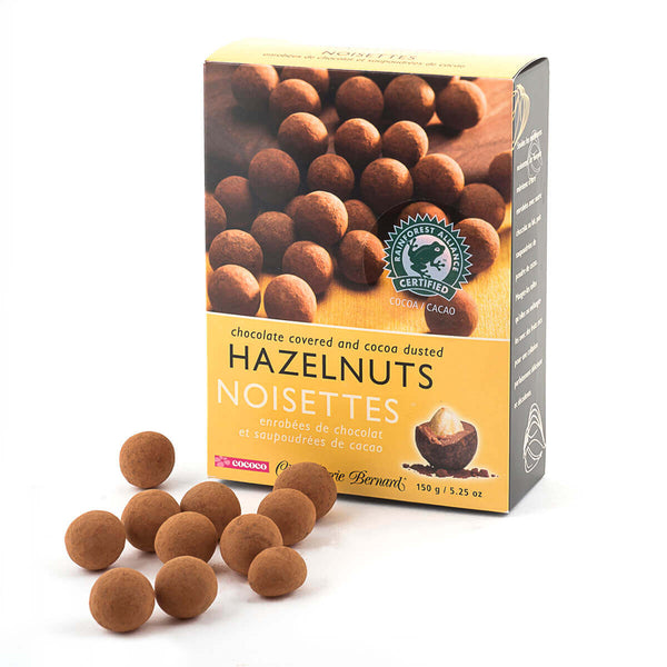 Milk Chocolate Covered and Cocoa Dusted Hazelnuts
