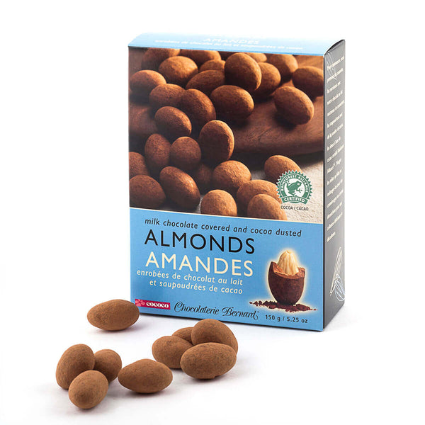 Milk Chocolate Covered and Cocoa Dusted Almonds