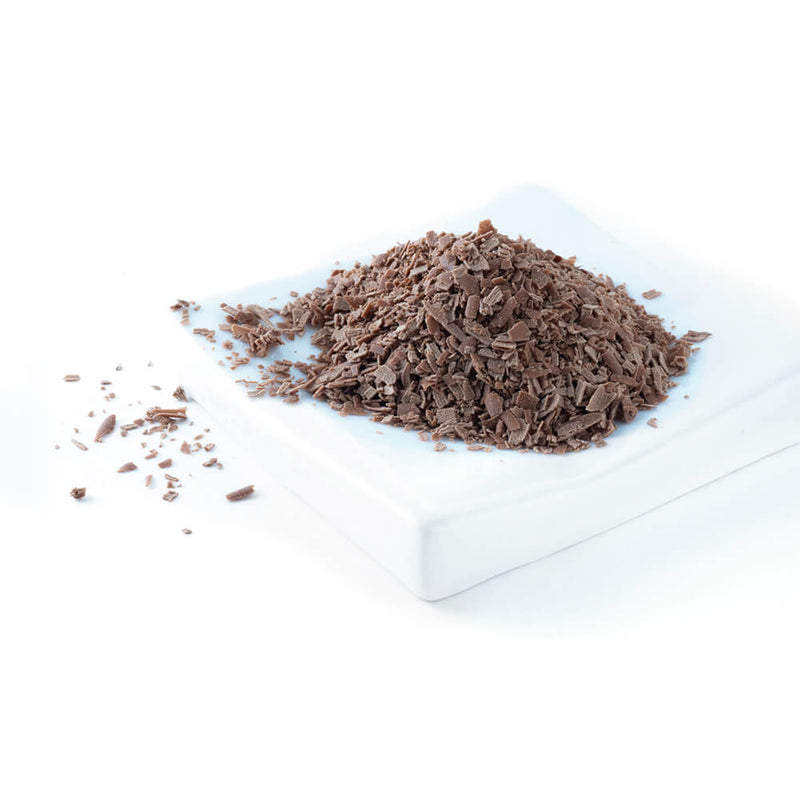 Mound of chocolate shavings
