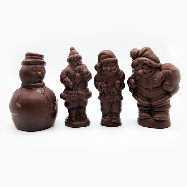 Tiny Christmas moulds, assorted, dark chocolate