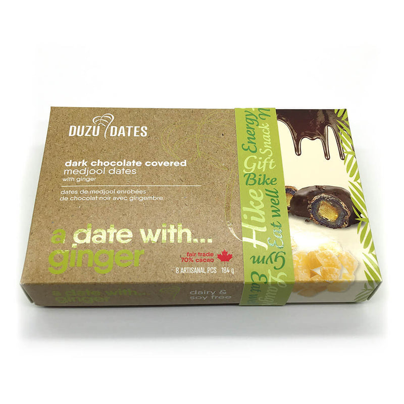 A Date with Ginger — Dark Chocolate Covered Medjool Dates with Ginger