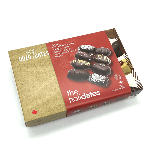 The Holidates — Festive chocolate covered medjool dates