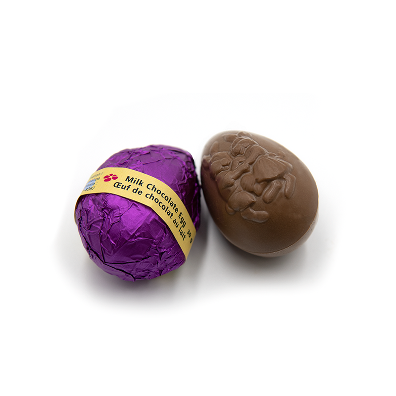 Easter Natural Sized Egg, dark chocolate