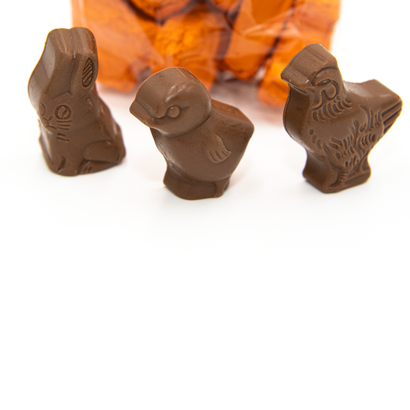 Easter Peanut Butter Filled Bunnies and Chicks, milk chocolate
