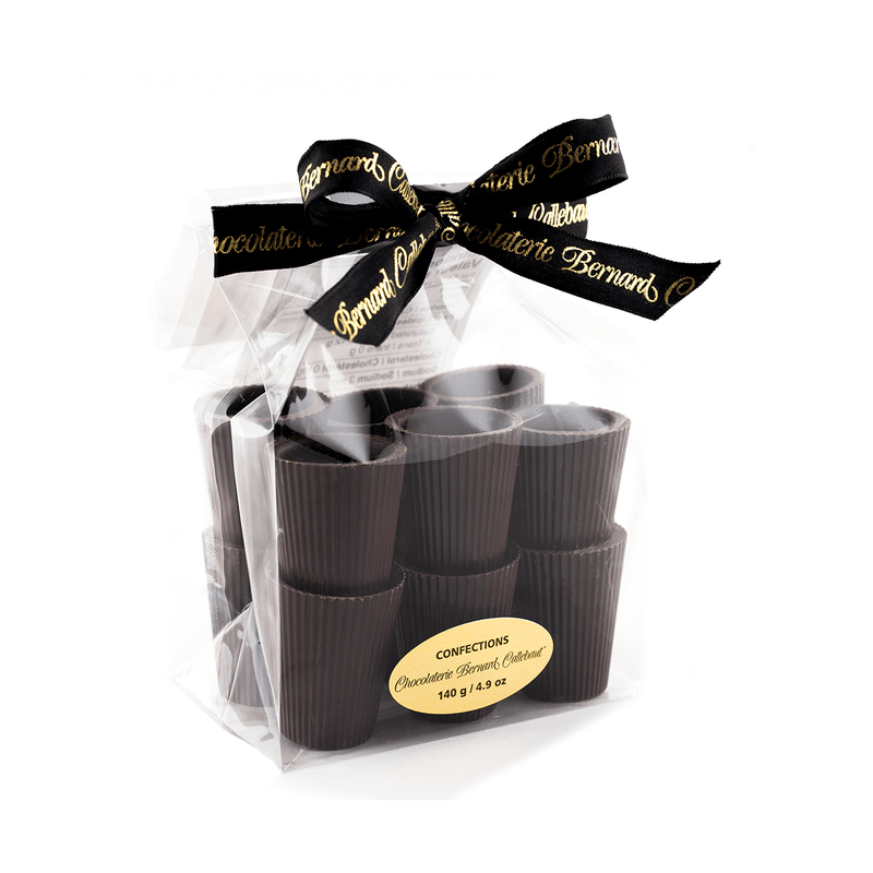 Liqueur Shooter Cups, Dark Chocolate, 12 cups