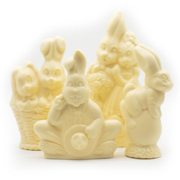 White chocolate Easter Bunny Cococo Bernard Callebaut sustainable fair-trade
