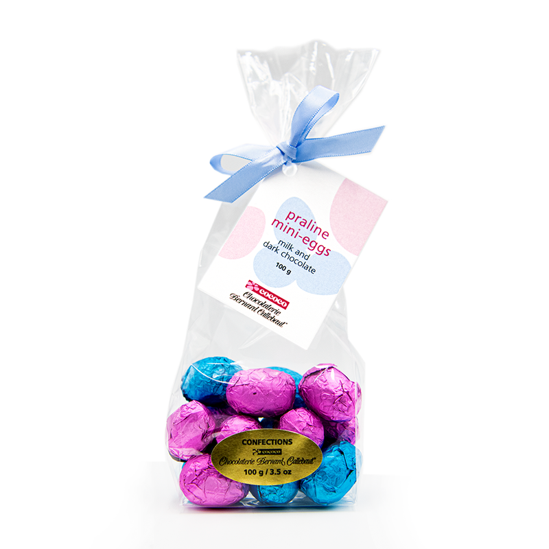 Easter Praline Mini Eggs Mixed Bag, milk and dark chocolate