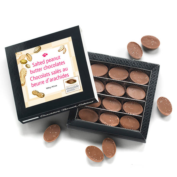Salted Peanut Butter Chocolates, 12pc