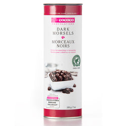 One canister of dark chocolate morsels