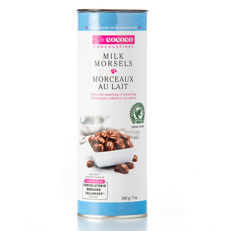 One canister of milk chocolate morsels
