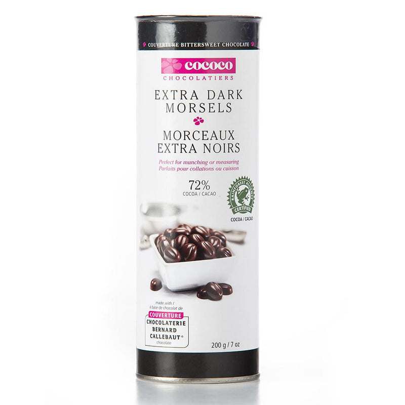 One canister of Extra Dark Bittersweet Chocolate